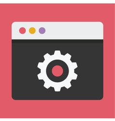 Browser settings icon vector
