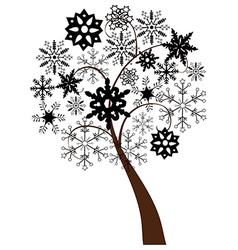 Snow tree b vector