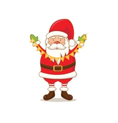 Cartoon cute santa claus vector