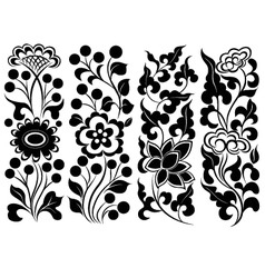 Scroll flower vector