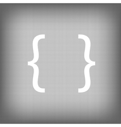 Curly bracket icon vector