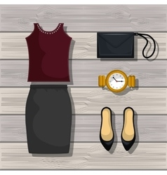 Feminine fashion design vector