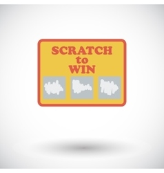 Scratch card flat icon vector