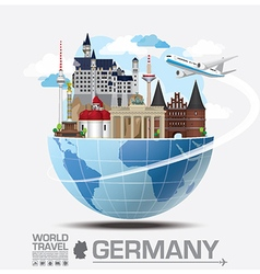 Germany landmark global travel and journey vector