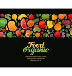 Vegetables and fruits  organic vector