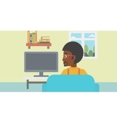 Man watching tv vector