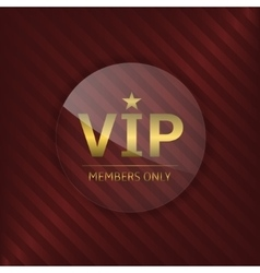 Vip glass label vector