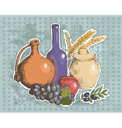 art vegetables8 vector image vector image