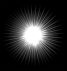 black and white rays vector image vector image