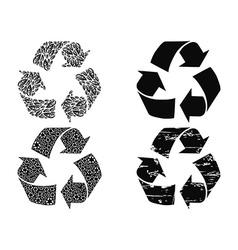 black recycling symbol vector image