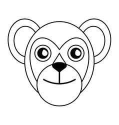 Breasted capuchin primate brazil fauna outline vector