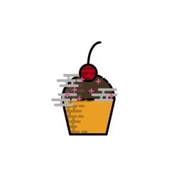 Cake flat icon vector