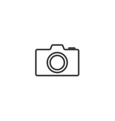 camera icon line style vector image
