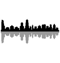 chicago skyline vector image vector image