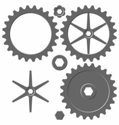 cogwheel elements vector image vector image