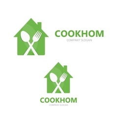 cooking logo design template vector image vector image
