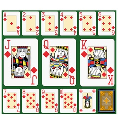 Diamonds suite black jack large figures vector