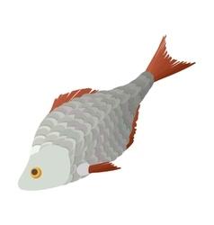 Dry fish cartoon icon vector