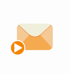email letter mail media message send video vector image vector image