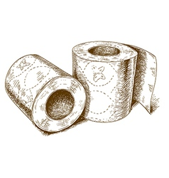 Engraving toilet paper vector