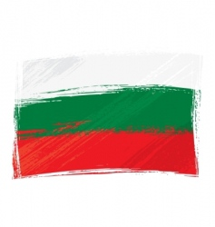grunge Bulgaria flag vector image