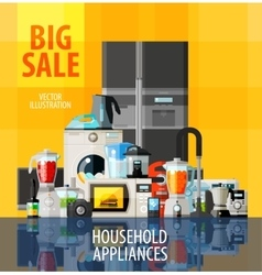household appliances logo design template vector image