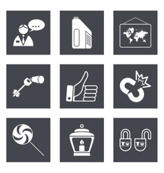Icons for Web Design set 35 vector image vector image