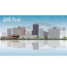 Little rock and reflections vector