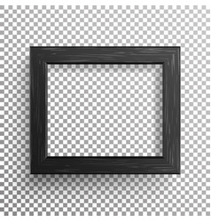 realistic photo frame isolated on vector image vector image