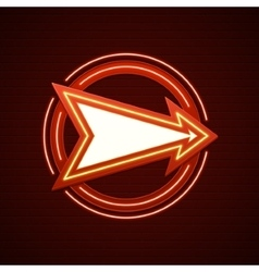 Retro Showtime Sign Design Arrow Cinema Signage vector image