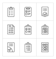 Set line icons of checklist vector image