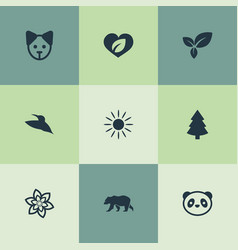 Set of simple geo icons vector