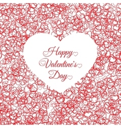 Valentines day vintage lettering background with vector