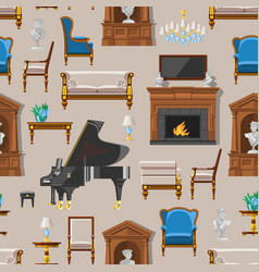 Vip vintage interior furniture rich wealthy house vector