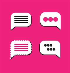 0810 speech bubbles on pink vector image vector image