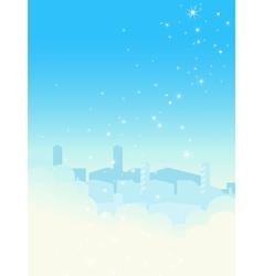 Shiny blue sky cityscape vector image
