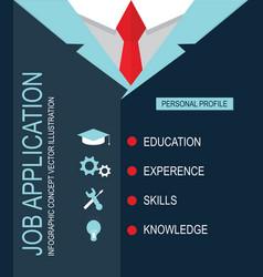 Job application personal profile vector