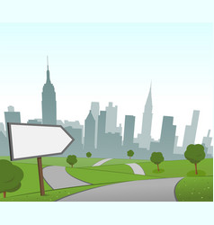 road to new york vector image