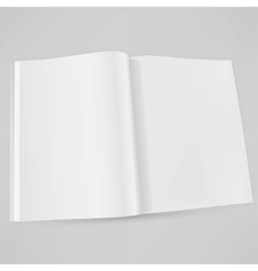 Open magazine double-page spread with blank pages vector