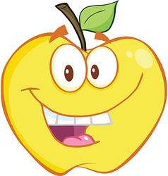 Cartoon apple design vector image