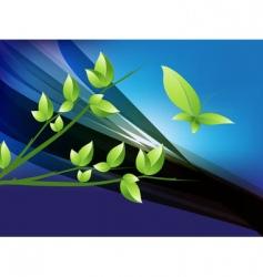 futuristic nature vector image