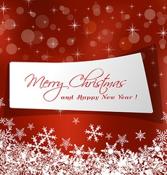 Cute christmas message in red background vector