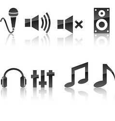 Audio icon set vector