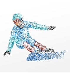 Slalom abstraction snowboarding vector