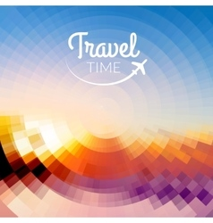 Summer travel design blurred pixelate sea beach vector