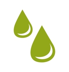 Ecological water drops design vector