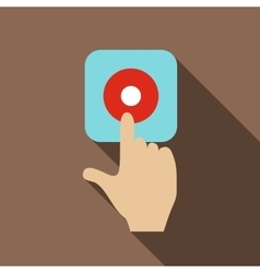 Alarm button icon flat style vector image vector image