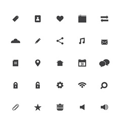 Black Website Icons Set vector image