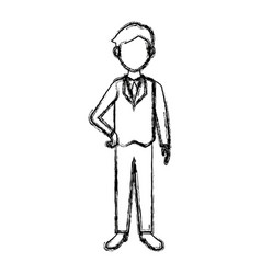 businessman in suit clothes standing character vector image