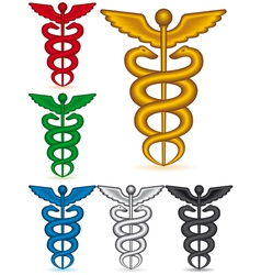 Caduceus collection vector image vector image
